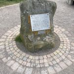 Monolith with detailed paving - public art